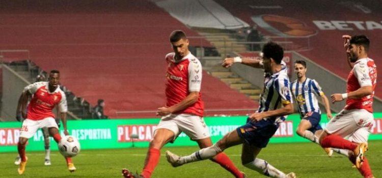 Luis Díaz lesiona David Carmo no SC Braga-FC Porto