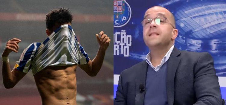 Paulo Miguel Castro, comentador do Porto Canal, indignado com expulsão de Luiz Diaz na Taça